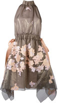 Fendi halterneck floral dress - women - Silk/Cotton/Metallic Fibre - 38