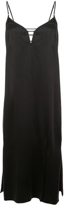 Kiki de Montparnasse Harness slip silk dress
