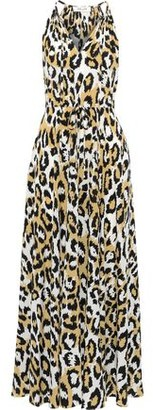 Diane von Furstenberg Sierra Gathered Printed Silk-crepe Maxi Dress