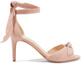 Alexandre Birman Clarita Bow-embellished Suede Sandals - Blush