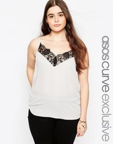 Asos Cami With Lace Detail