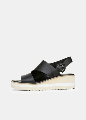 Vince Leather Shelby Wedge Sandal