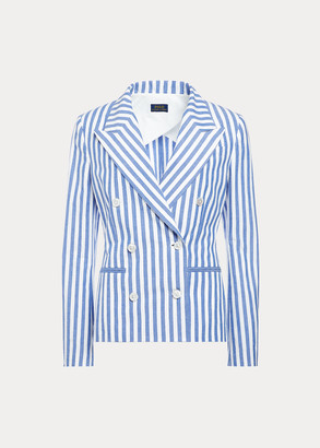 Ralph Lauren Striped Double-Breasted Blazer
