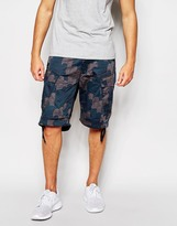 G-star For The Oceans Cargo Shorts Rovic Combat Occotis Camo Print - Grey