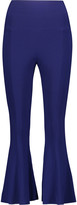 Norma Kamali Fishtail cropped stretch-jersey leggings