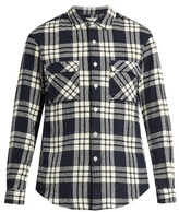 TOMORROWLAND Checked cotton-flannel shirt