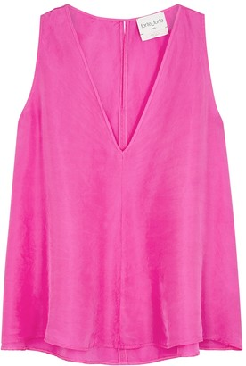 Forte Forte Fuchsia silk-satin top