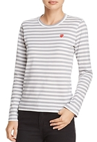 Comme des Garcons Heart Striped Tee