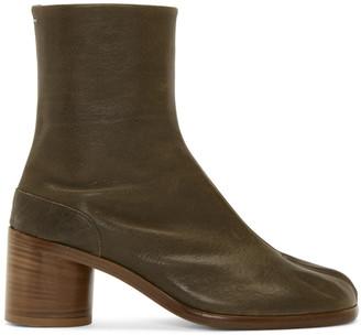 Maison Margiela Green Tabi Boots
