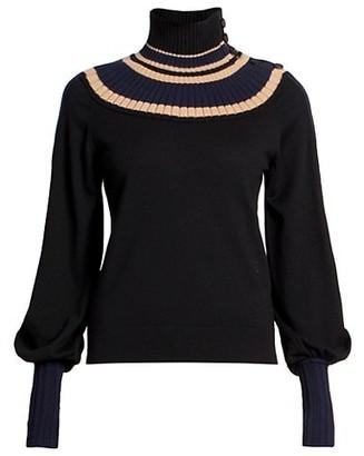 Chloé Fine Wool Knit Turtleneck Sweater