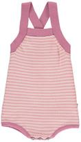 Nui Gladys Striped Organic Cotton Knit Romper