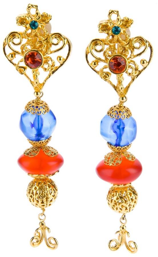 Christian Lacroix Vintage heart earrings