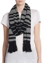 Vince Camuto Striped Knit Scarf