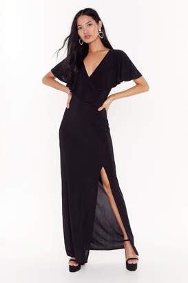 Nasty Gal Womens Cape Verde Slit Maxi Dress - Black - 4, Black