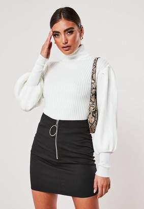 Missguided Black Crepe Micro Mini Skirt