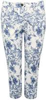 M&Co Petite floral print cropped jeans