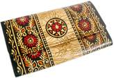 Crafts of India Batik Design Colorful Genuine 100% Pure Leather Shantiniketan Clutch hand Purse