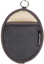 Cuisinart Oval Pot Holder/Oven Mitt with Pocket and Heat Resistant Non-Slip Silicone Grip, Grey