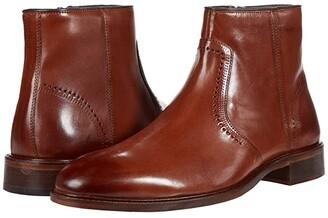 Johnston & Murphy Sayer Plain Toe Zip Boot (Black Italian Calfskin) Men's Shoes