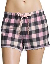 U.S. Polo Assn. Pink & Black Plaid Lounge Shorts