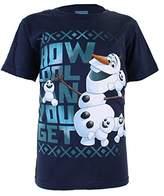Disney Girl's Frozen Cool Olaf Short Sleeve T-Shirt