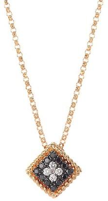 Roberto Coin Palazzo Ducale 18K Rose Gold, Black & White Diamond Pendant Necklace