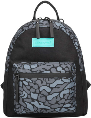 Consigned Jagra Multi Animal Print Backpack Black-Grey