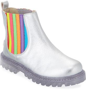 Sophia Webster Lara Rainbow Metallic Leather Boots, Baby/Toddler/Kids