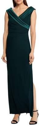 Ralph Lauren Satin Portrait-Collar Gown
