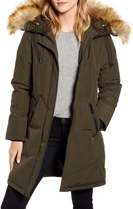Sam Edelman Faux Fur Trim Down Parka