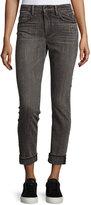 Helmut Lang Skinny Stretch-Denim Jeans, Light Gray