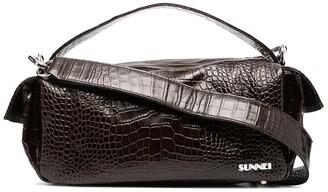 Sunnei Snake Embossed Tote Bag