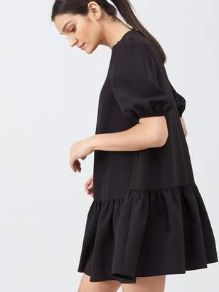 Very Crepe Smock Dress - Black
