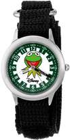 "Disney Kids' W000162 Muppets ""Kermit"" Stainless Steel Time Teacher Watch"