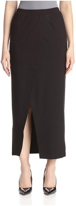 Society New York Women's Long Wrap Ponte Skirt