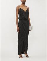 Balmain Bead-embellished woven maxi dress