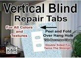 R&K As Seen On TV Vertical Blind Repair Tabs, 10 Tabs