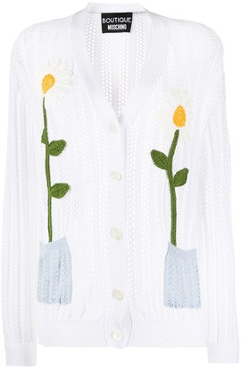 Moschino Knitted Floral Cardigan
