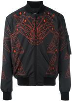 Marcelo Burlon County of Milan abstract print bomber jacket - men - Polyester/Polyamide - M