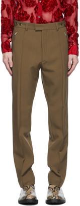 Dries Van Noten Tan Zip Trousers