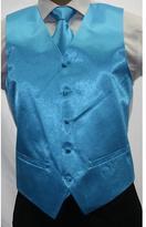 Ferrecci Men's Shiny Turquoise Microfiber 3-piece Vest