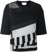 DKNY panelled short sleeve T-shirt