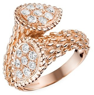 Boucheron Serpent Boheme Toi Et Moi 18K Rose Gold & Diamond Ring