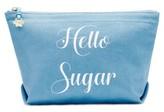 Draper James Hello Sugar Canvas Pouch - Blue