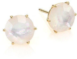 Ippolita Rock Candy Medium 18K Yellow Gold & Doublet Round Stud Earrings