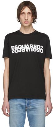DSQUARED2 Black Mirrored Logo T-Shirt