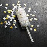 Crate & Barrel Party Gold Confetti Popper