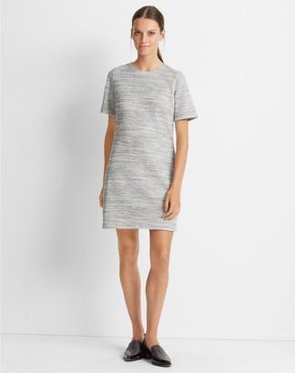 Club Monaco Textured Short Sleeve Dress