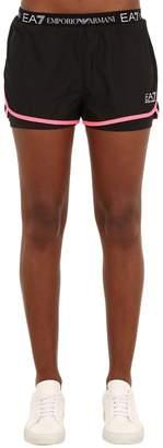 Emporio Armani Ea7 Logo Layered Shorts