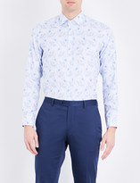 Etro Floral-print slim-fit cotton shirt